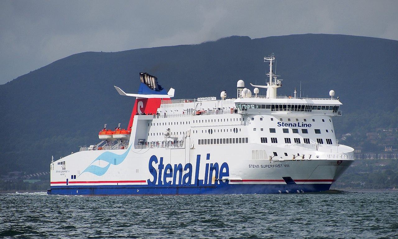 Stena Superfast VIII in Belfast Lough during the Tall Ships 2015. Copyright © Ross McDonald.