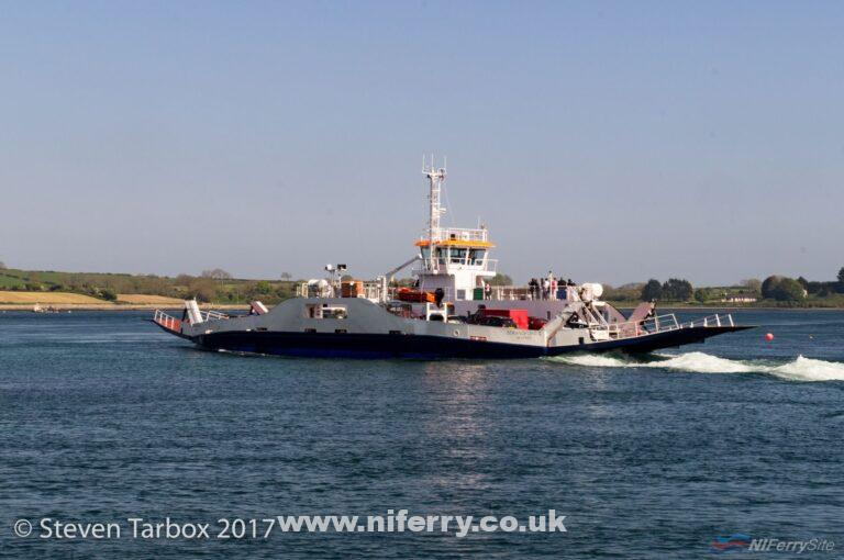 STRANGFORD II crossing 'The Narrows' bound for Portaferry. © Steven Tarbox.