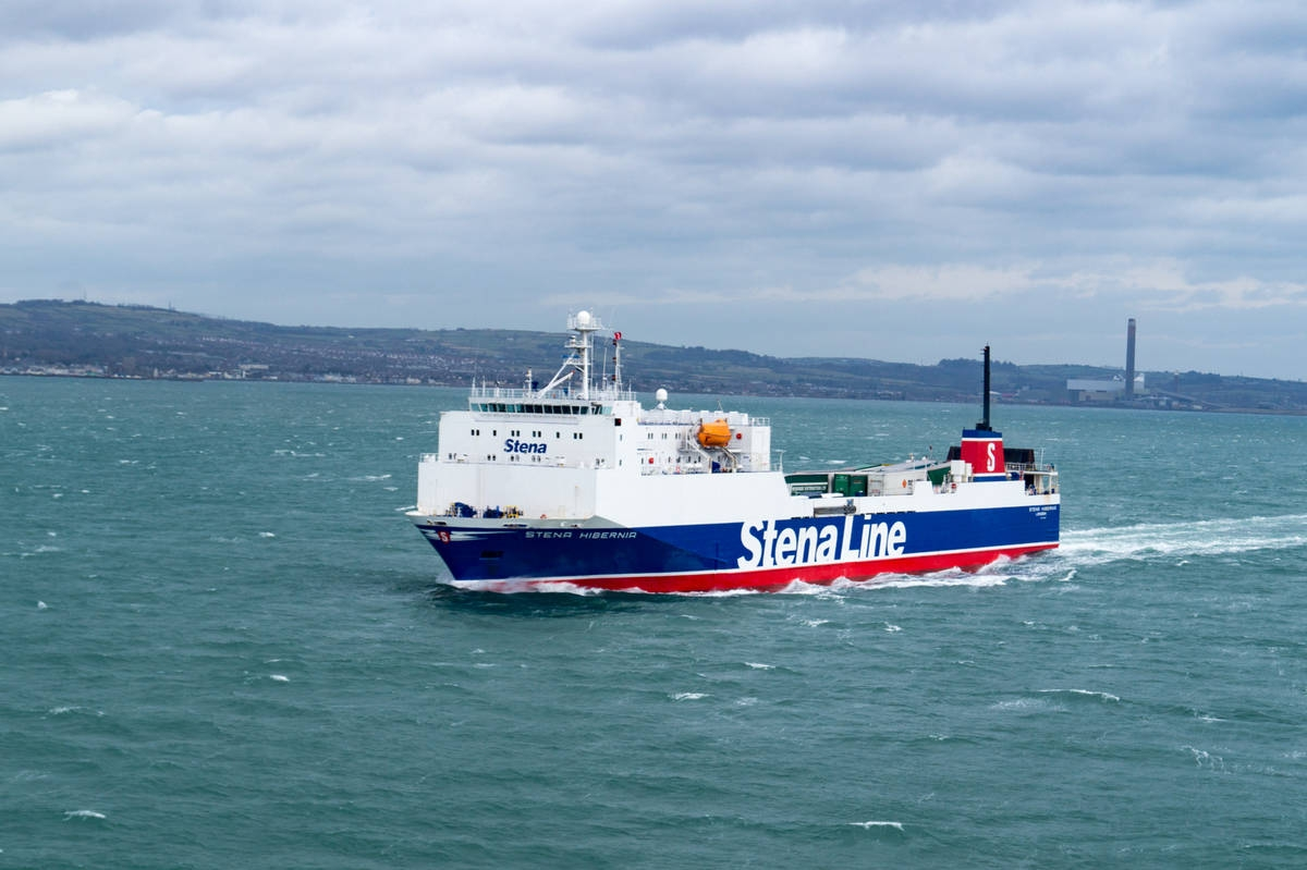 Stena Hibernia in Belfast Lough.