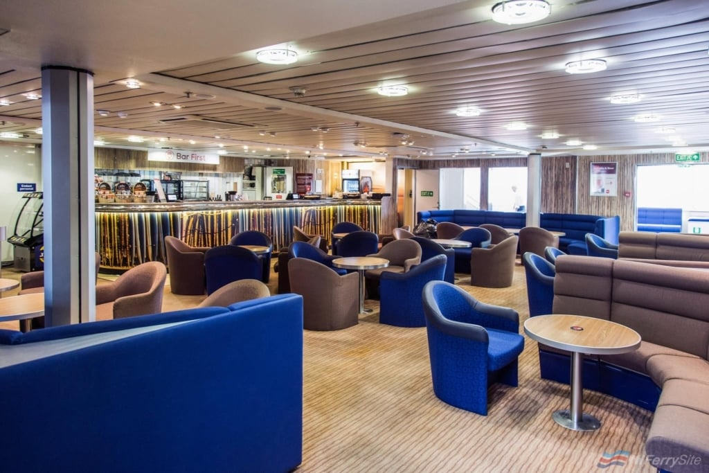 """Bar First"" onboard HSC EXPRESS in her Viking FSTR guise. This and other areas onboard are largely unchanged from the vessels final years based at Larne. Viking Line"