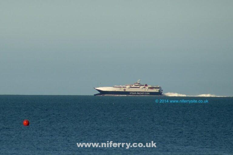 The Steam Packet have announced that less sailings will probably be available during next years Isle of Man TT due to P&O returning HSC Express to her owners. Manannan, the regular vessel linking Northern Ireland with the Isle of Man, © Steven Tarbox