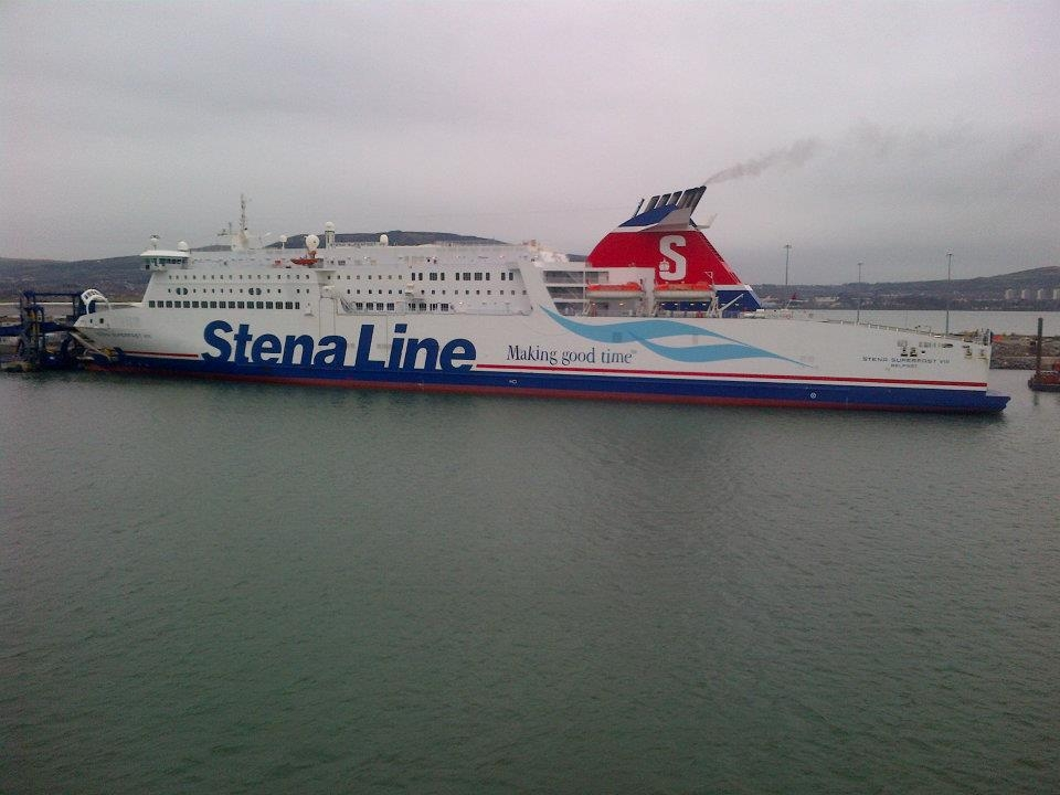 Stena Superfast VIII on the berth at Belfast