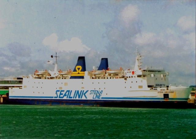 Chantry Classics postcard of Stena Galloway in Sealink Stena Line livery. (Steven Tarbox Collection)