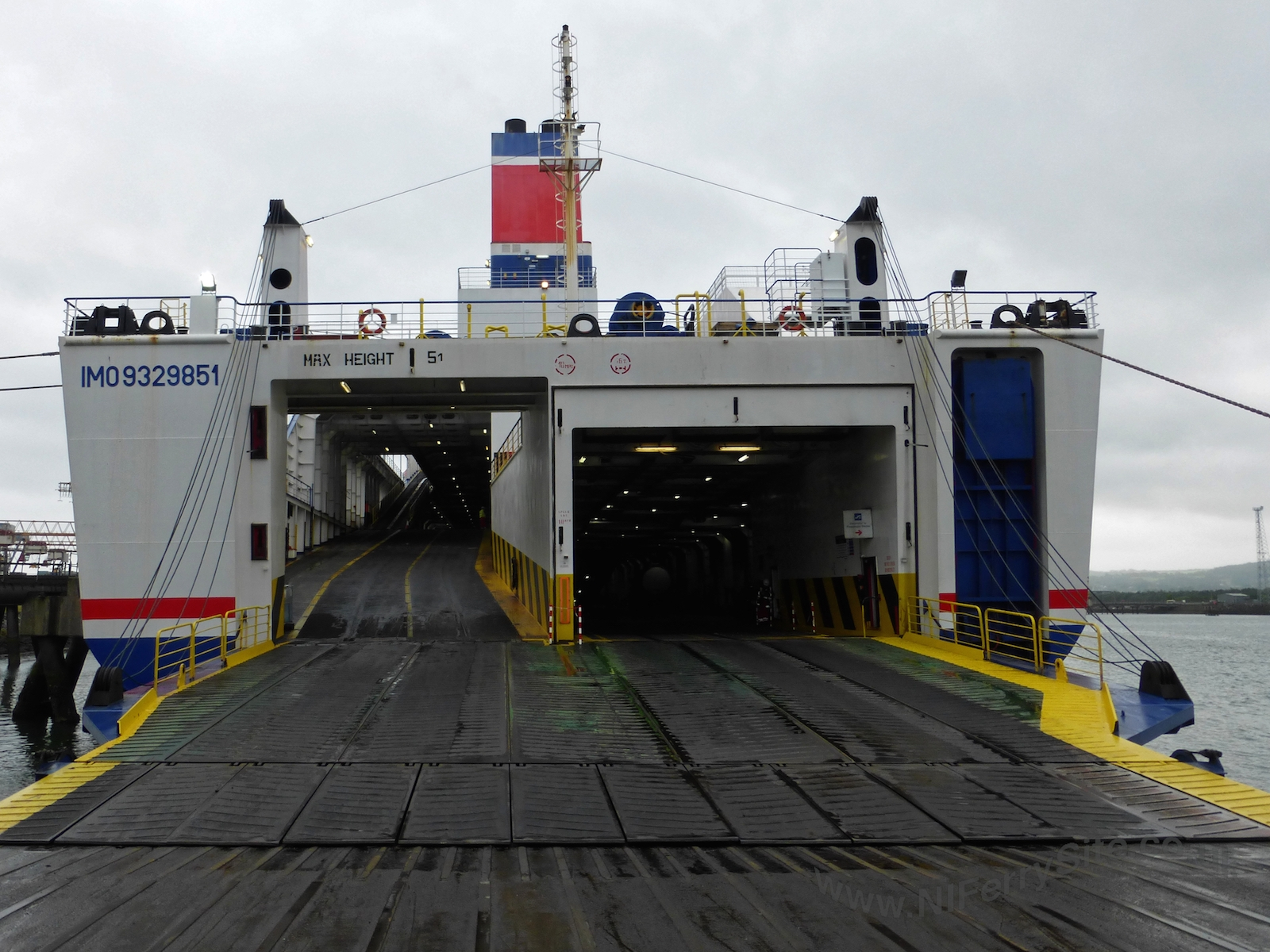 Stena Mersey stern view with ramps lowered, Victoria Terminal 2, Belfast. ©Steven Tarbox