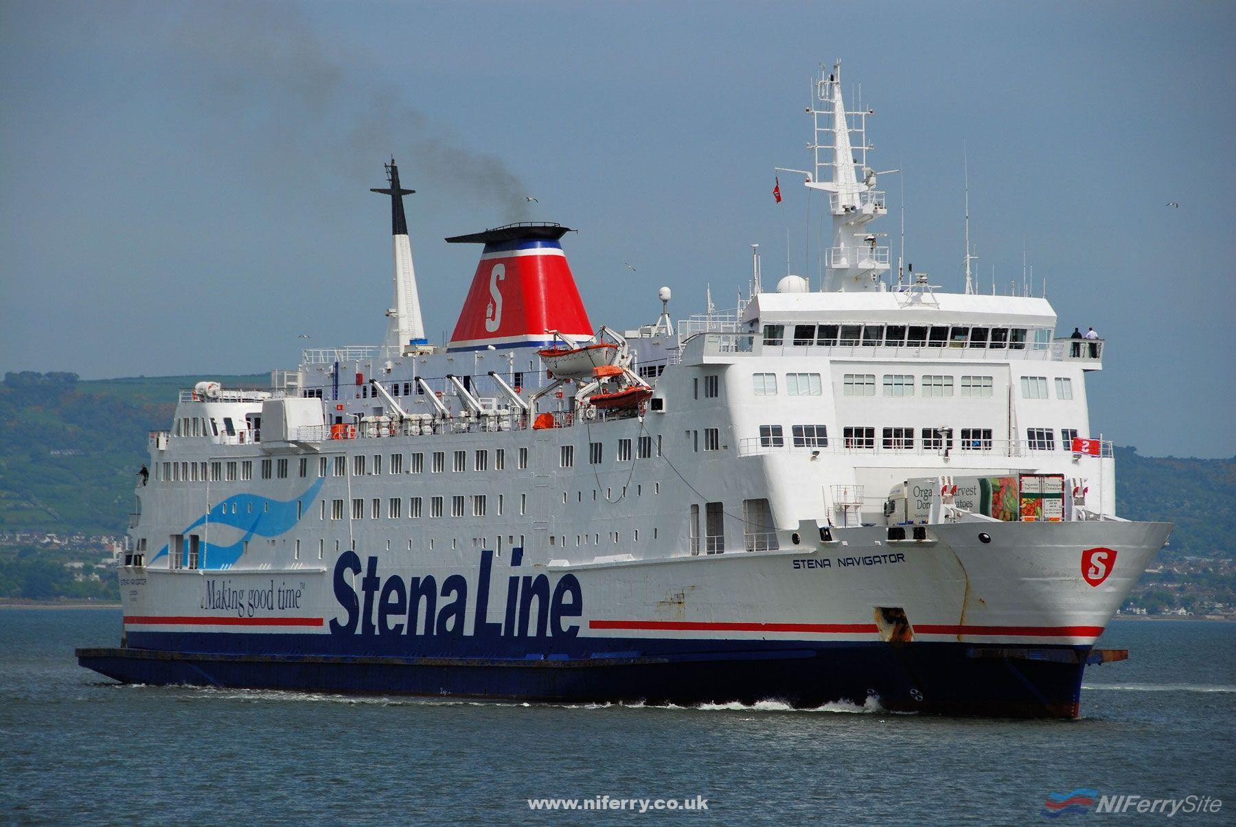 STENA NAVIGATOR arriving in Belfast from Stranraer, 03.06.2010. Copyright © Alan Geddes.