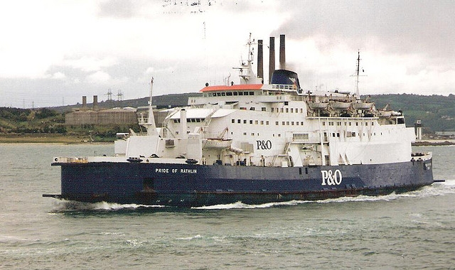 Pride of Rathlin leaving Larne in 1995. Copyright © Scott Mackey.