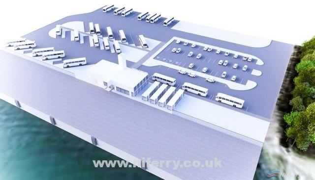 An artists impression of the planned cruise facility at Belfast's D3. Belfast Harbour
