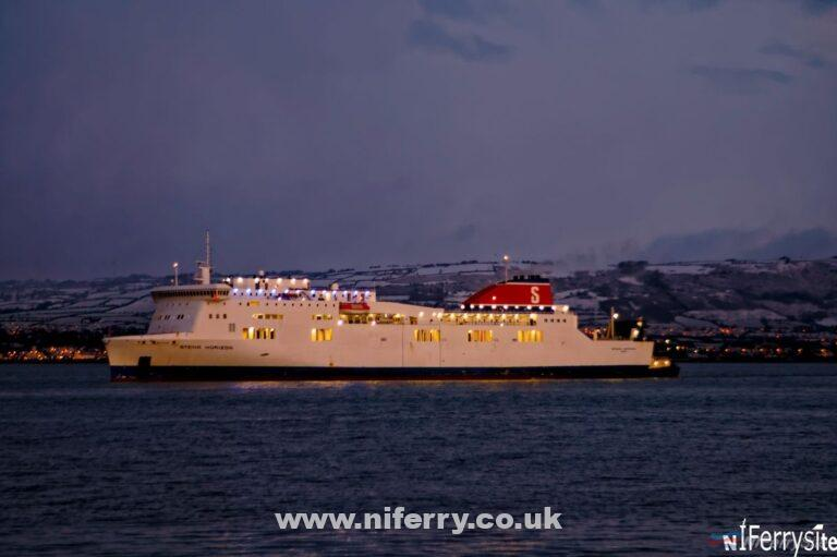 Stena Horizon arriving in Belfast for dry-docking 15/1/16. Copyright © Steven Tarbox.