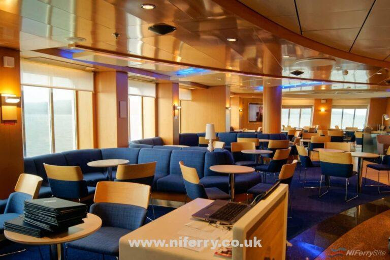 View of the Stena Plus premium lounge. This is located in the same location on deck 7 as were the Met Bar is on Stena Superast VII/VIII.