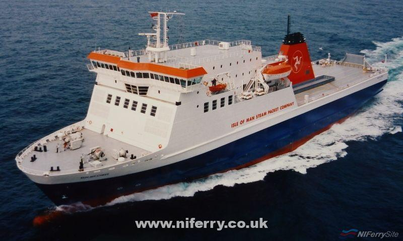 BEN-MY-CHREE pictured on trials in her original livery. Van de Giessen de Noord B.V.