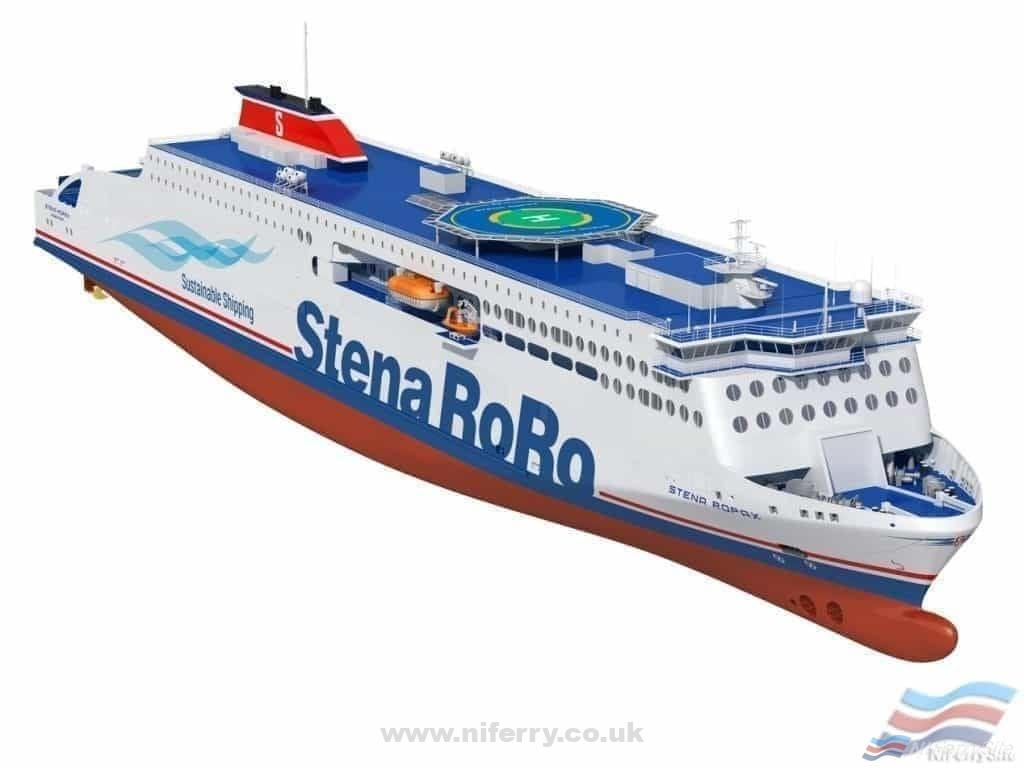 Artists rendering of the new Stena Ro-pax's to be built in China and classified by DNV GL. Credit: DNV GL.