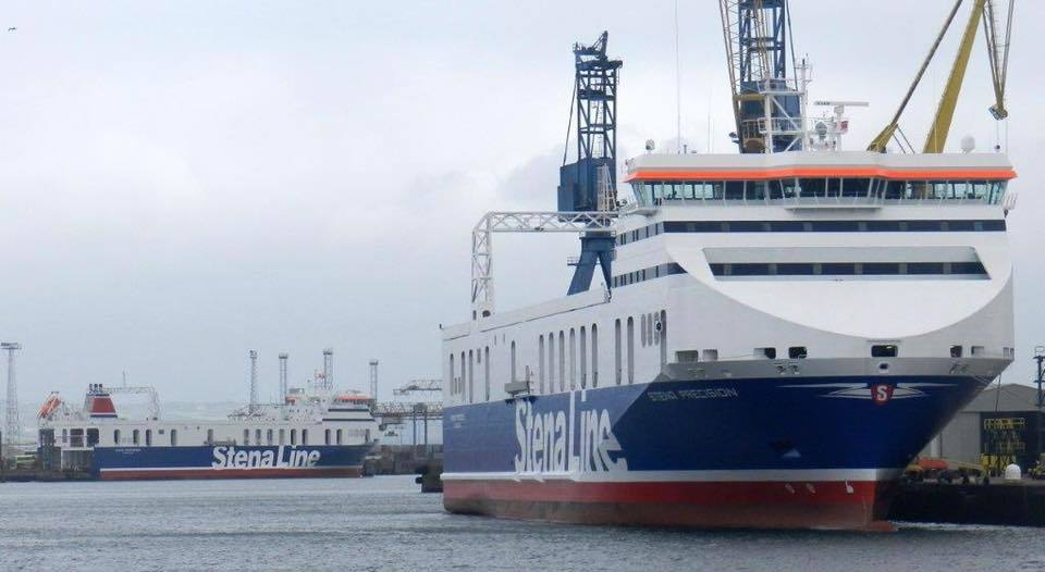 Stena Precision and Stena Performer in Belfast. Stena Line.