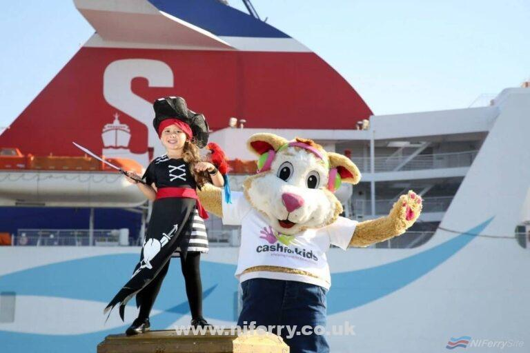 ALL ABOARD: Little Eva Burnside (4) from Belfast and Cash for Kids mascot Courage, are calling on all budding Jack Sparrows and Princess Elsas to experience an unforgettable day at sea on its Pirates and Princesses Cruise. On Sunday, October 16, Stena Superfast will be playing host to a day of dressing up and adventure, with a treasure trove of activities on board such as dancing, crafts and karaoke, guaranteed to put a smile on the kids' faces. Not only does the day promise to be a fun-filled one, but it will also raise funds for Cool FM and Downtown Radio's Cash for Kids, with all proceeds from ticket sales going towards the charitable appeal. Tickets are available for just £12, and due to the one-off nature of the event, they are expected to sell out fast. For more information go to www.stenaline.co.uk/cashforkids