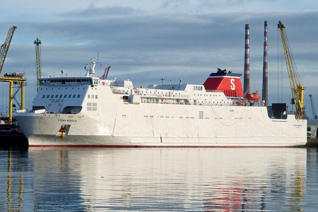 Photo of Stena Nordica in service.