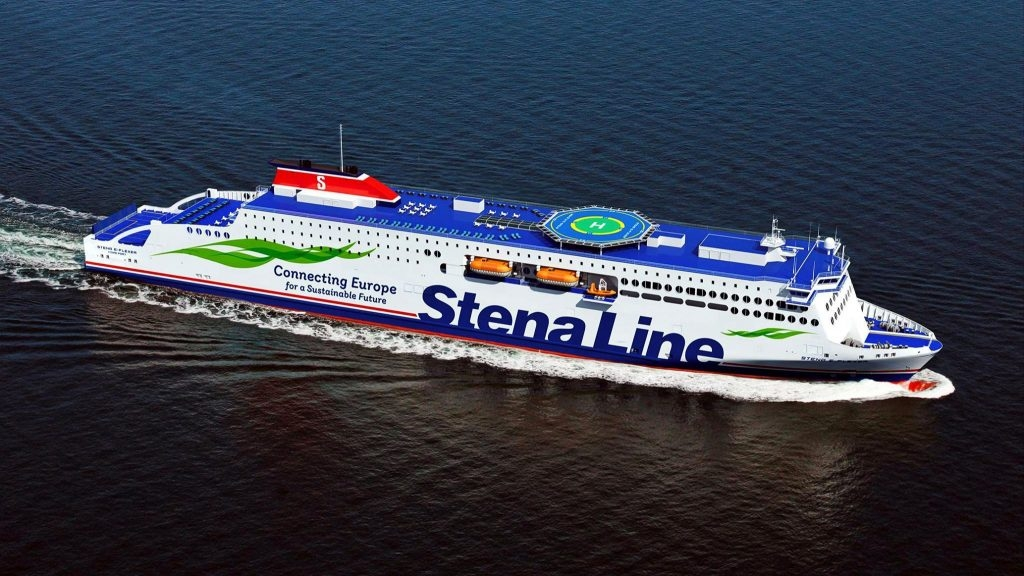 Rendering of Stena's now 'E-Flexer' class, 4 of which are currently under construction in China at AVIC's Weihai yard.