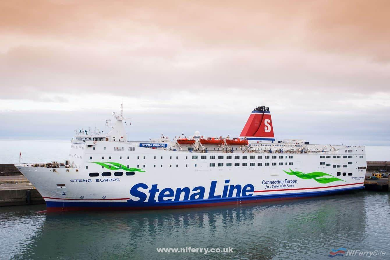 Stena Europe in Rosslare showing off her new livery. Stena Line.