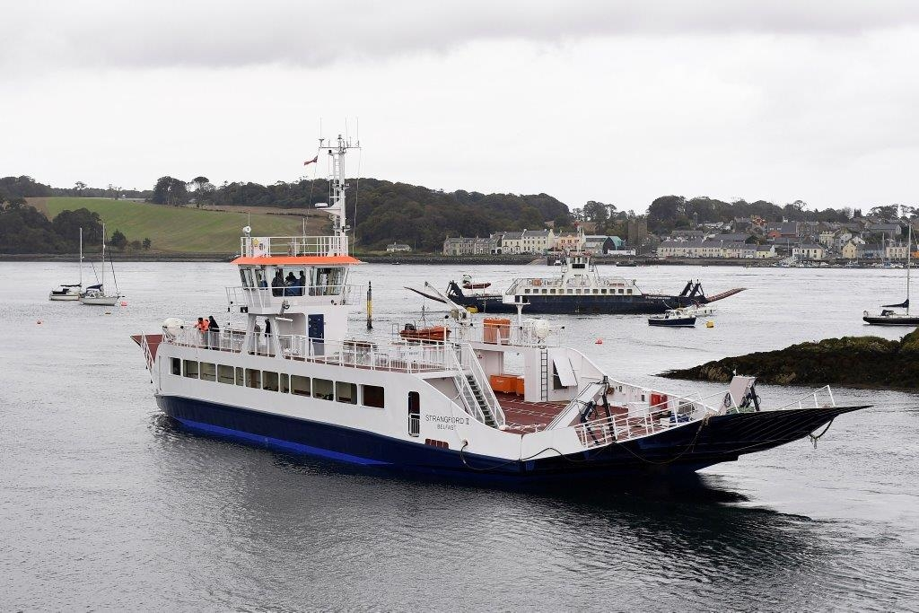 Strangford II, with near-sister Portaferry II in the background. Northern Ireland Department for Infrastructure.