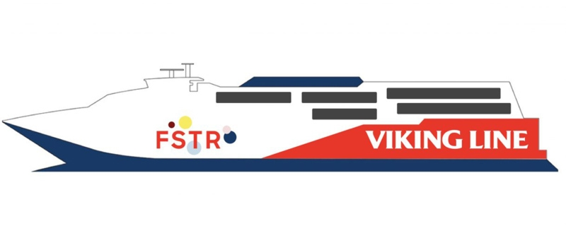 Viking Line promotional image for Viking FSTR, formerly P&O and Gotlandsbaten's HSC Express.