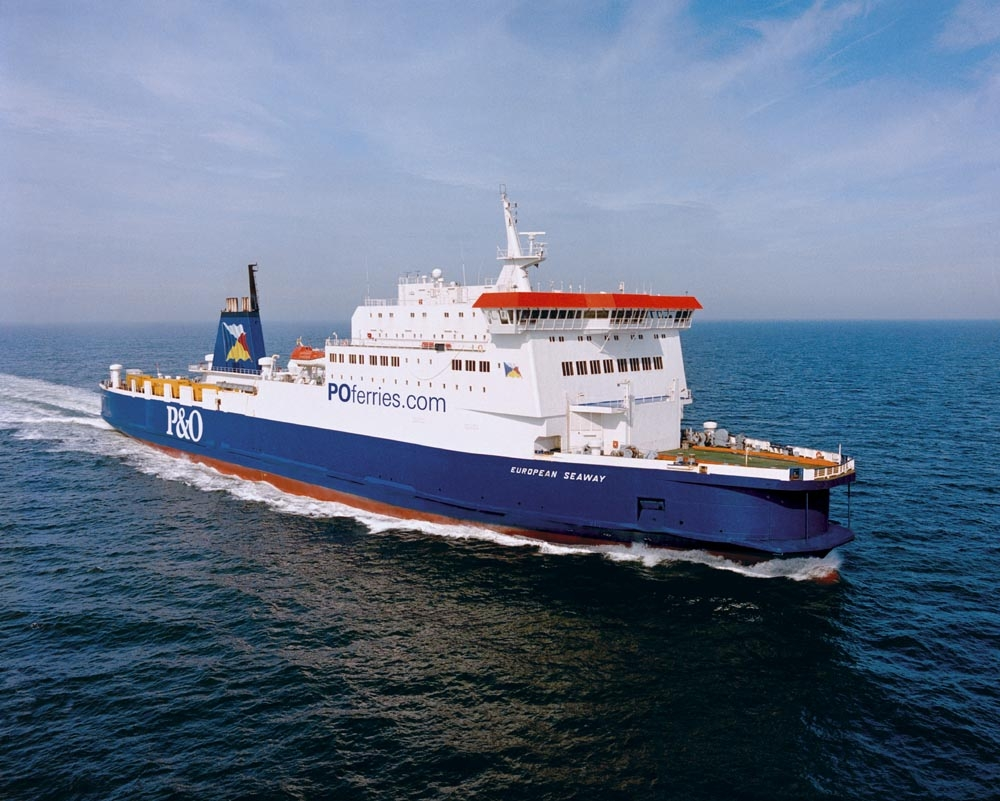 P&O's cross-channel freighter European Seaway. © P&O Ferries.