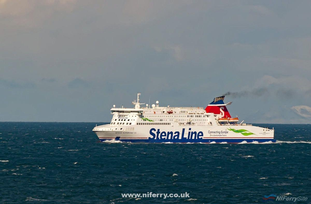 Stena Superfast VIII freshly painted in the revised Stena Livery for 2017. Copyright © Steven Tarbox