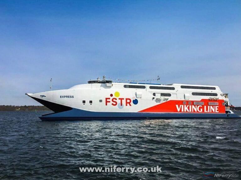 HSC Express in her latest livery carrying the marketing name 'Viking FSTR'. Viking Line.
