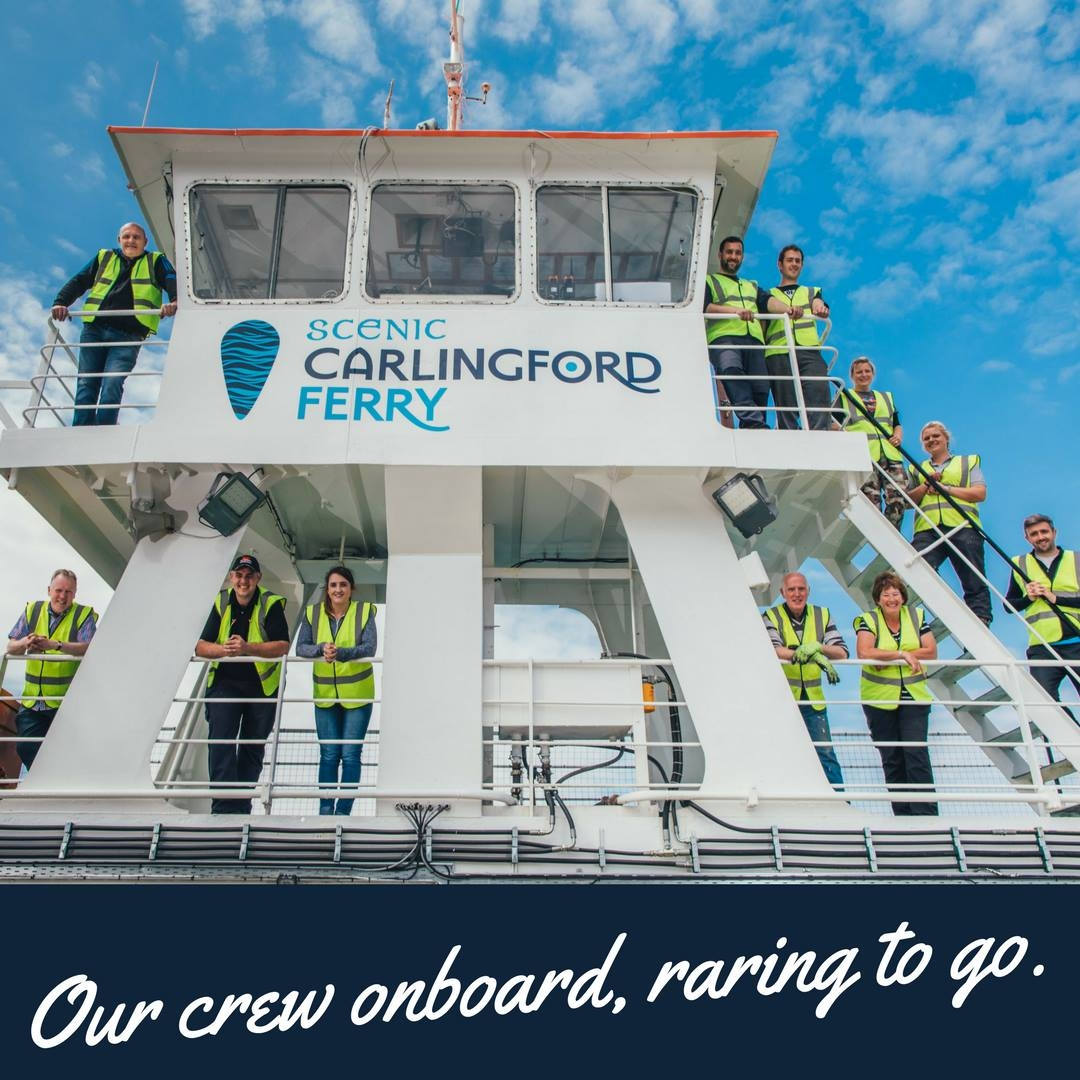Scenic Carlingford Ferry publicity image. Scenic Carlingford Ferry.