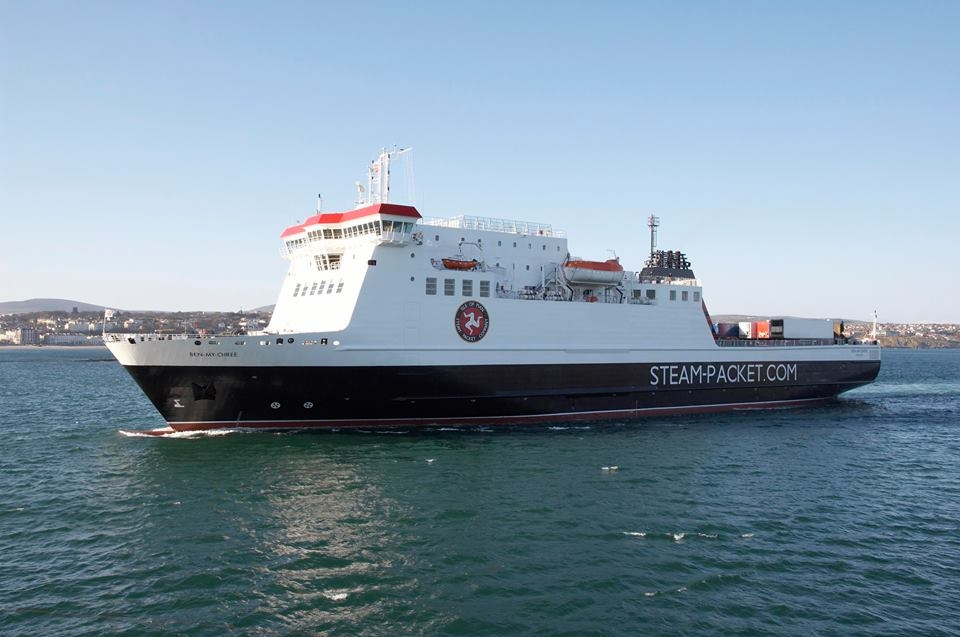 The Isle of Man Steam Packet Company RoPax BEN-MY-CHREE. Isle of Man Steam Packet.