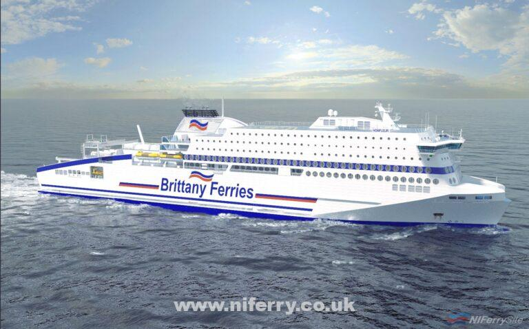 Artists rendering of HONFLEUR. © Brittany Ferries.