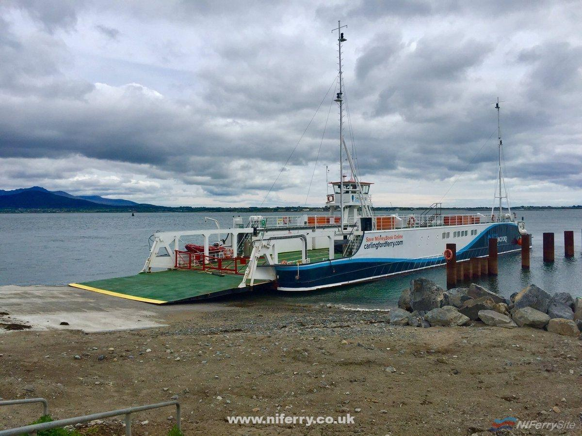 Frazer Ferries AISLING GABRIELLE on trials at Greenore in advance of commencing the Scenic Carlingford Ferry service from the Louth port to Greencastle in County Down. Courtesy of the Carlingford Twitter / Facebook page.