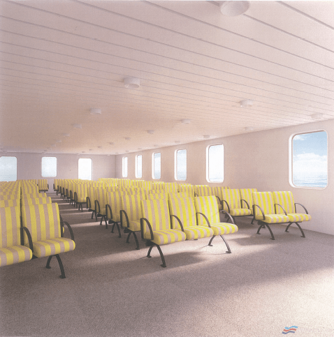 Interior render of LE RIF as it is intended she will look following the completion of her refurbishment. DWLM.