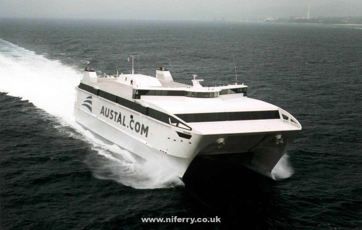 WESTPAC EXPRESS at sea. Austal.