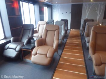 The Hygge lounge onboard STENA SUPERFAST VII. Copyright © Scott Mackey.