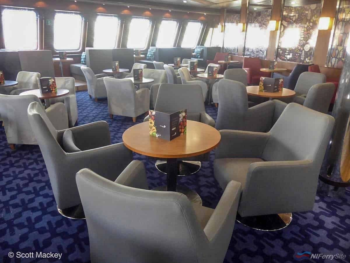 The relocated Stena Plus lounge onboard STENA MERSEY. Copyright © Scott Mackey.