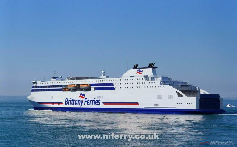 Rendering of Brittany Ferries' Stena E-Flexer class vessels. Brittany Ferries.