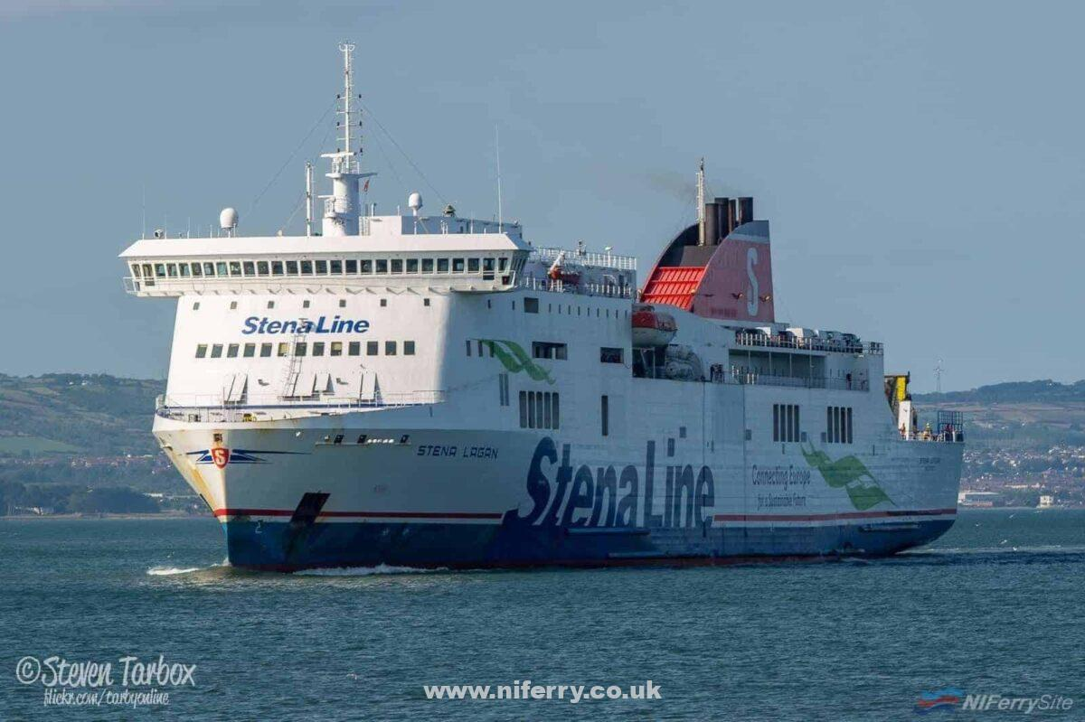 STENA LAGAN arrives in Belfast after another daytime crossing from Birkenhead, 25.07.18. Copyright © Steven Tarbox.