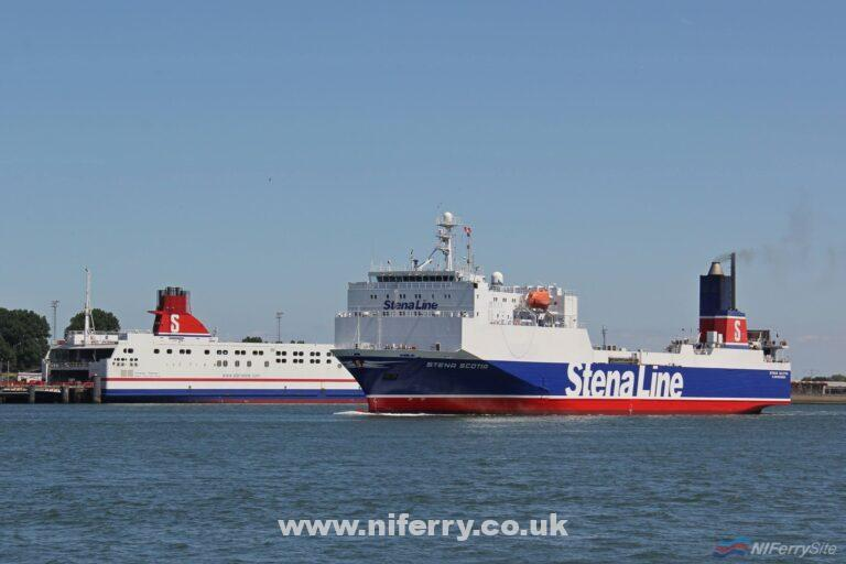 STENA SCOTIA seen returning from dry dock on July 7th 2018. Copyright © Rob de Visser.