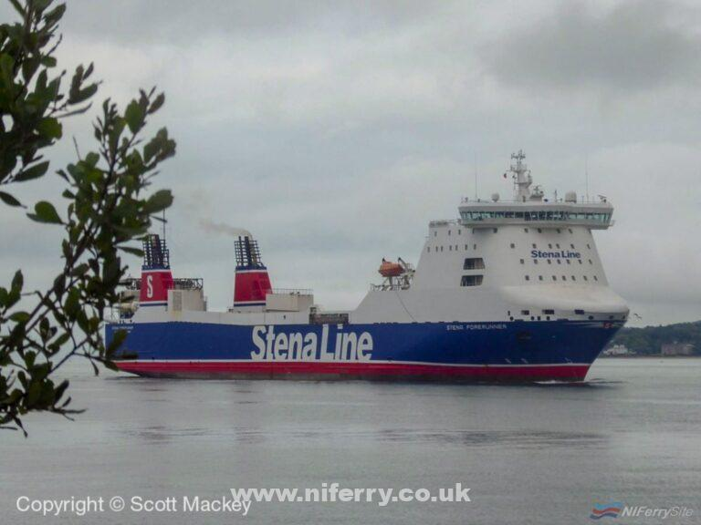 STENA FORERUNNER arrives in Belfast for the first time. Copyright © Scott Mackey.