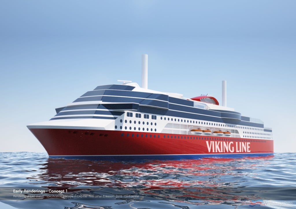 vCAD Rendering of the new Viking Line ferry under construction in China. Viking Line
