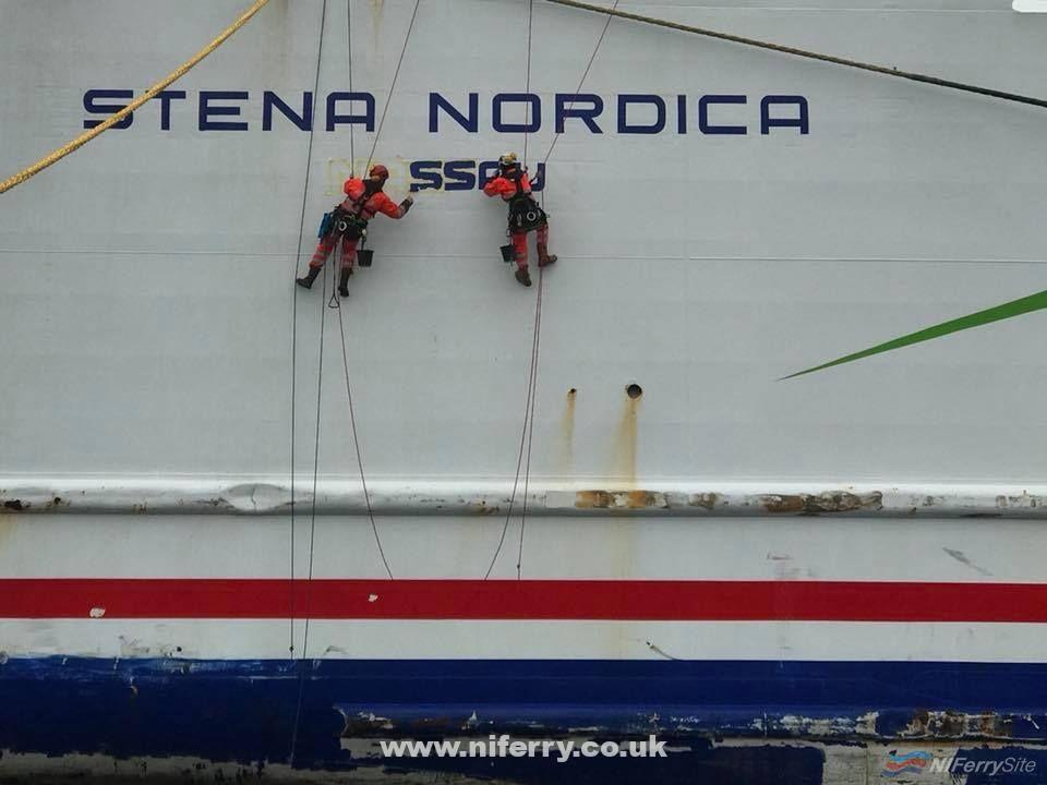 STENA NORDICA had her flag and home port changed alongside at Karlskrona in early October 2018. © IMS Technical Services.