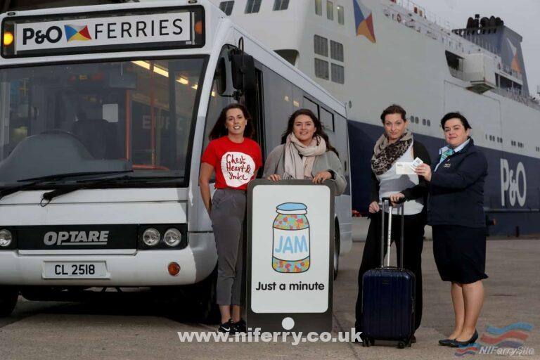 Steph Ellis from NI Chest Heart Stroke, Jenny Potter from Now Group, Judith Robinson from JAM card user/stroke survivor and Catherine Lee from P&O Ferries. P&O Ferries.