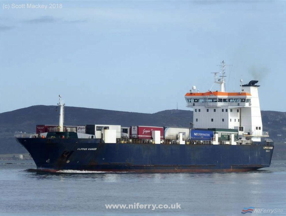 Photo of Seatruck Ro-Ro Clipper Ranger on her way to Canada