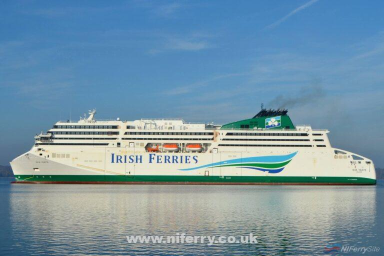 Irish Ferries new German-built RoPax W. B. YEATS returns to FSG on 07.11.18 following sea trials off the Danish Coast. Copyright © Frank Jensen.