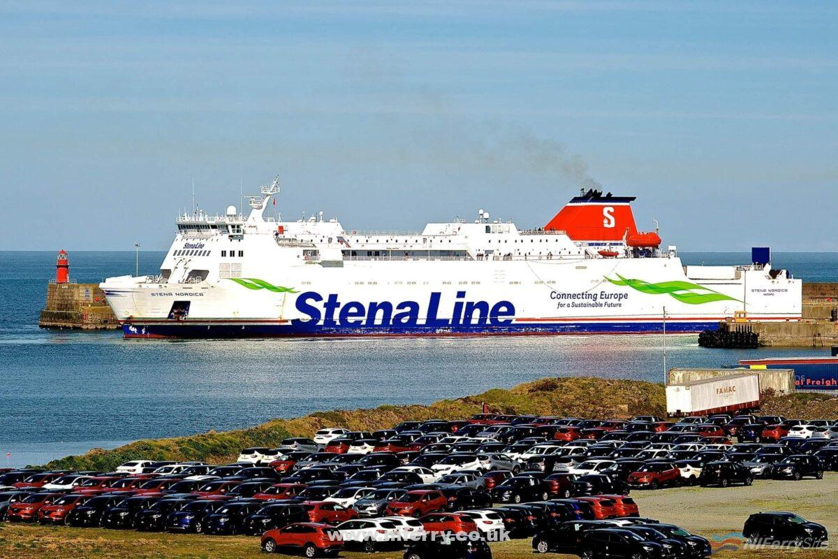 STENA NORDICA at Rosslare during September 2019 while covering for STENA EUROPE on the Rosslare to Fishguard route. Copyright © Gordon Hislip.