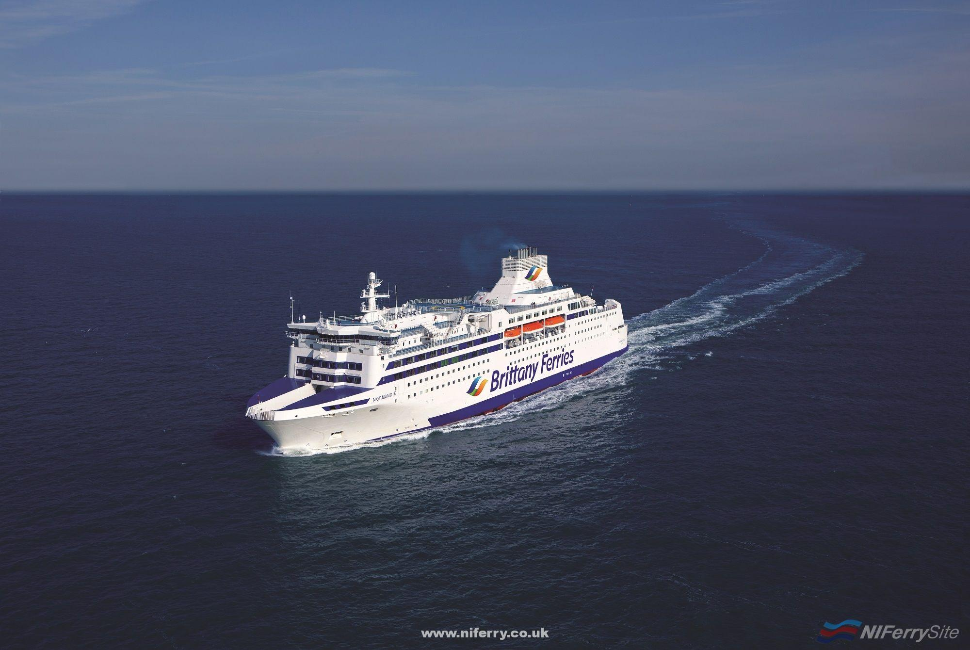 Brittany Ferries NORMANDIE wearing the new livery for the 2019 season. Brittany Ferries.