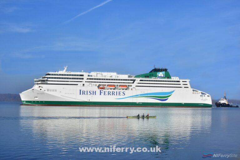 Irish Ferries image of W.B YEATS in Flensburg. Irish Ferries.