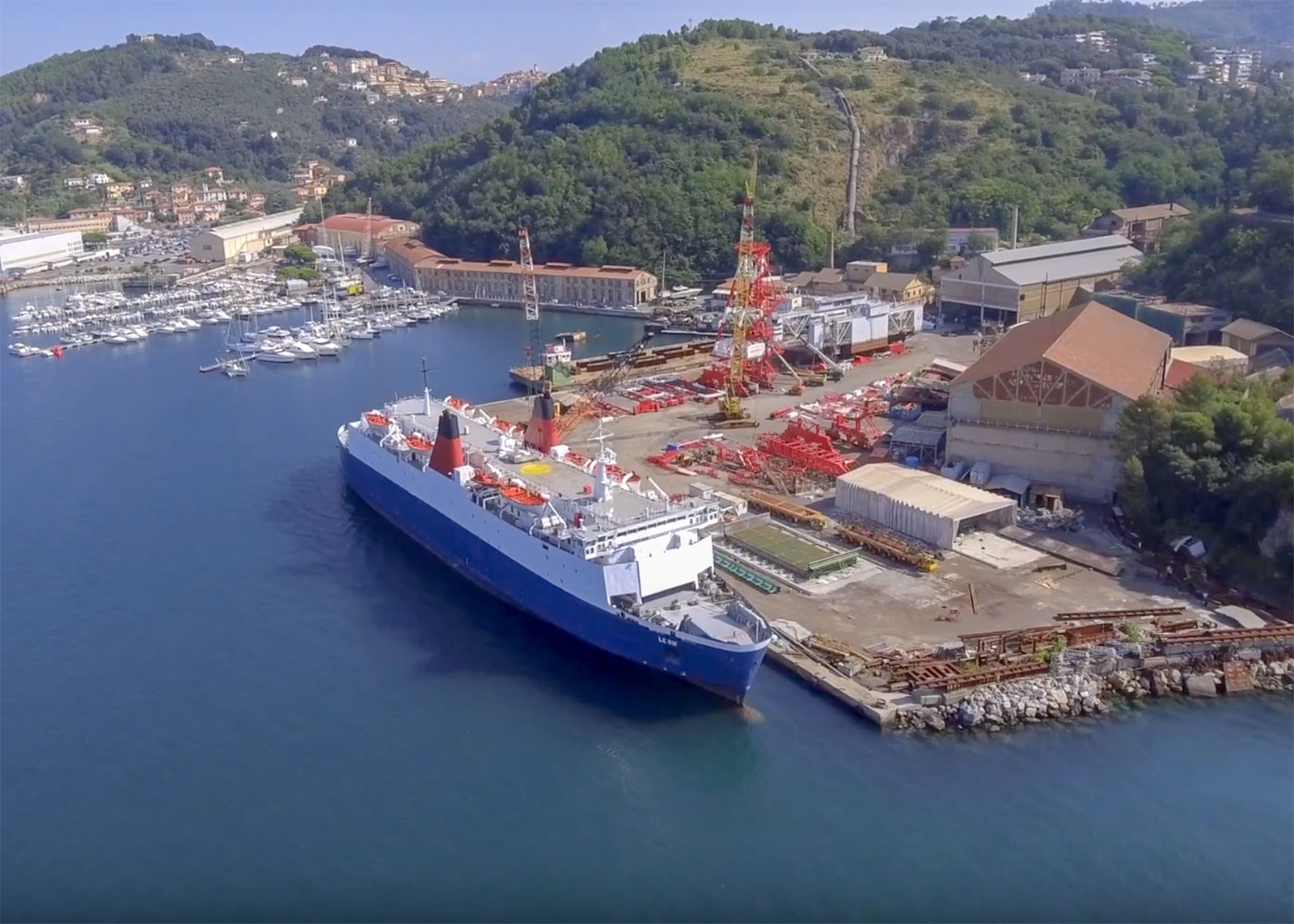 LE RIF nearing the end of her refurbishment during 2018 at Jobson Italia's Naples yard. Copyright © Jobson Italia (Screen grab from video).