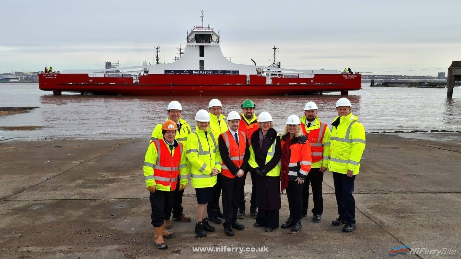 Photo of [PR] Cammell Laird stages 'float-off' for new £10m ferry for Red Funnel