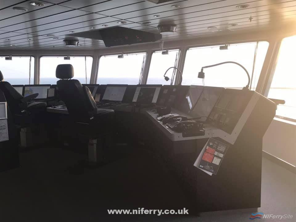 The Bridge onboard Irish Ferries' W.B. YEATS. Copyright © David Faerder.