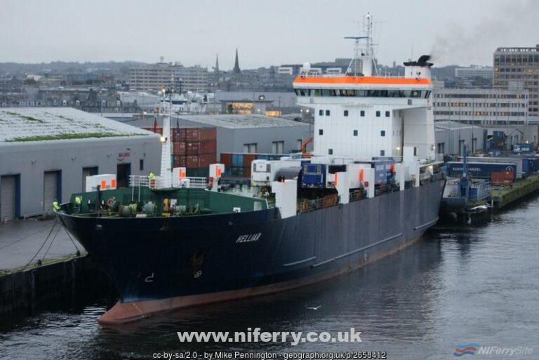 MV Helliar at Blaikie's Quay, Aberdeen. © Copyright Mike Pennington and licensed for reuse under this Creative Commons Licence