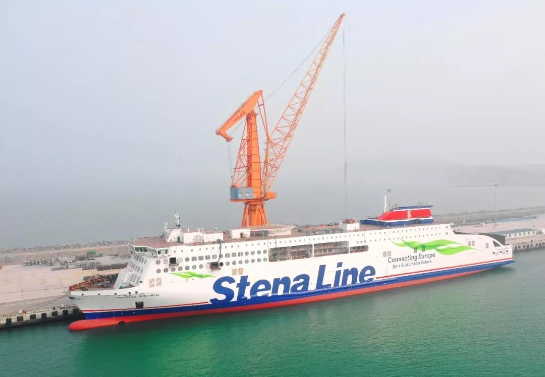STENA ESTRID at the fitting out pier, AVIC Weihai. AVIC Ship.